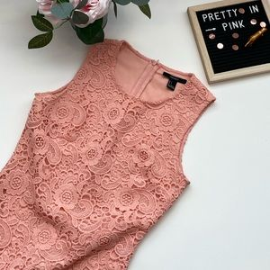 Forever 21 peach lace pencil dress